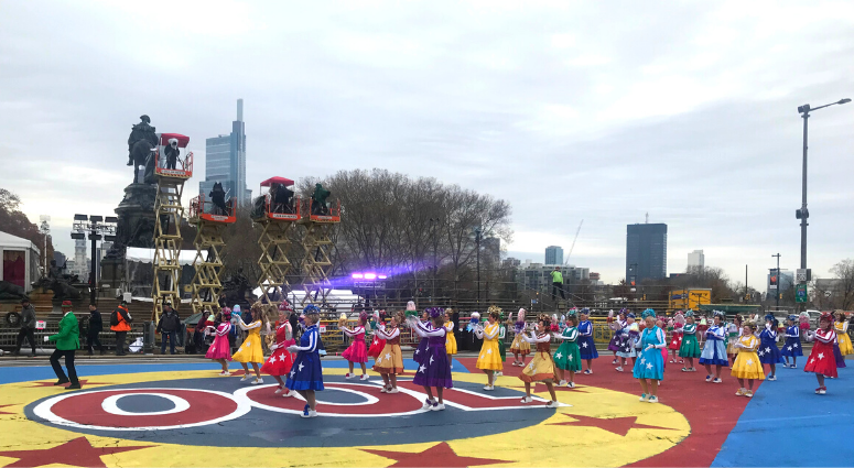 Philadelphia Thanksgiving Day Parade rehearsal