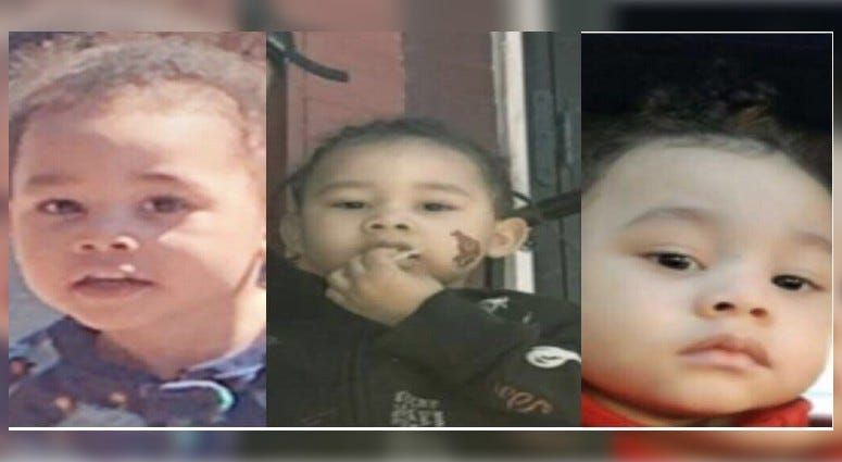 Pictures of 2-year-old King Hill, who is missing from his home near 31st and Page streets