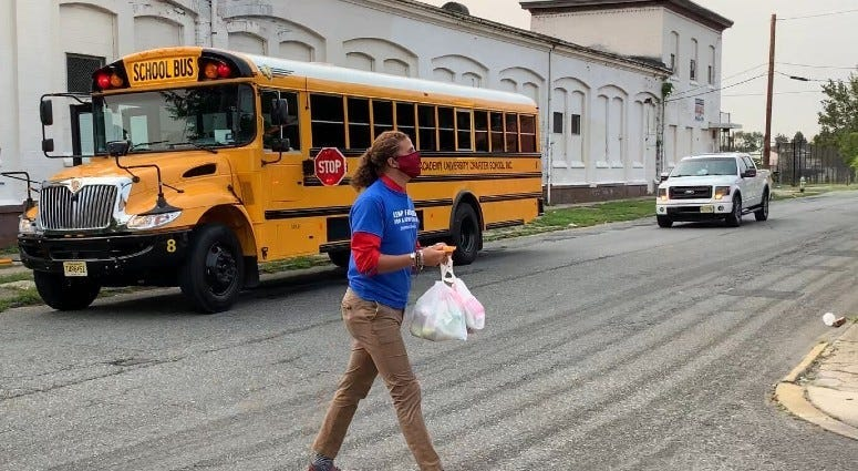 Leap Academy University Charter School is busing meals to kids