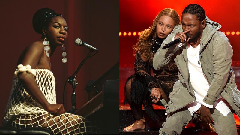Nina Simone, Beyoncé, Kendrick Lamar