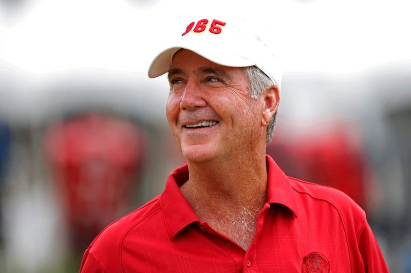 Redskins team president Bruce Allen addressed media at the NFL Combine.