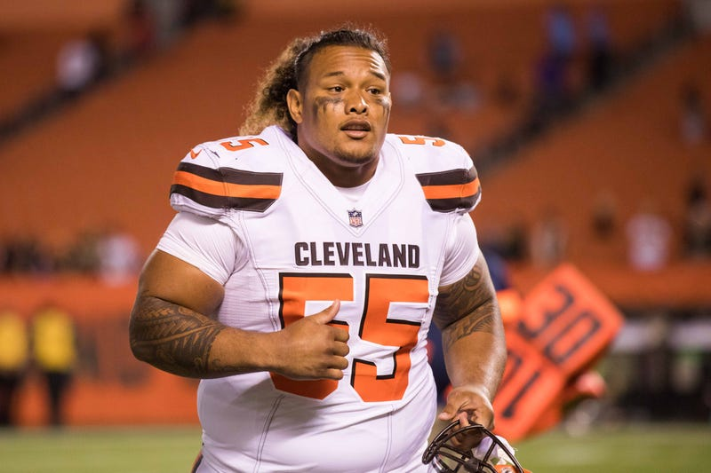 Aug 10, 2017; Cleveland, OH, USA; Cleveland Browns nose tackle Danny Shelton (55) after the game against the New Orleans Saints at FirstEnergy Stadium. Mandatory Credit: Scott R. Galvin-USA TODAY Sports