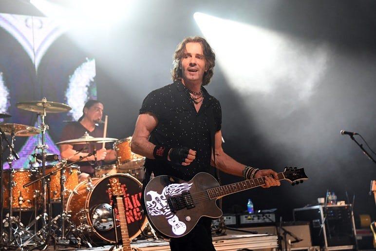 Aug 28, 2018; Pompano Beach, FL, USA; Rick Springfield performs at Pompano Beach Amphitheatre