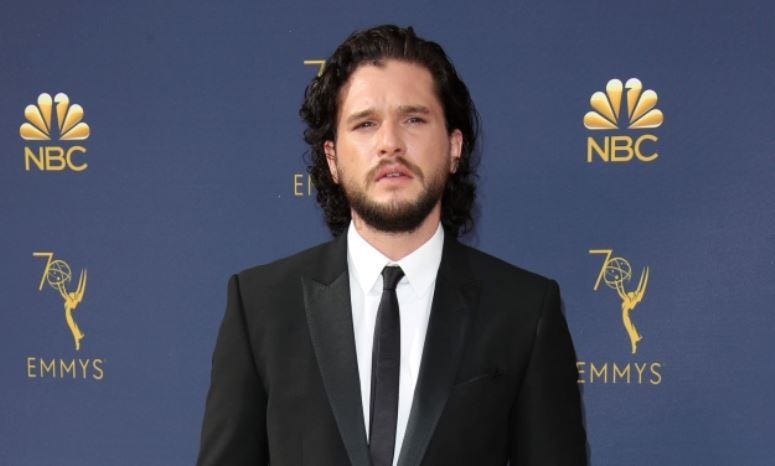 Sep 17, 2018; Los Angeles, CA, USA; Kit Harrington arrives for the 70th Emmy Awards at the Microsoft Theater
