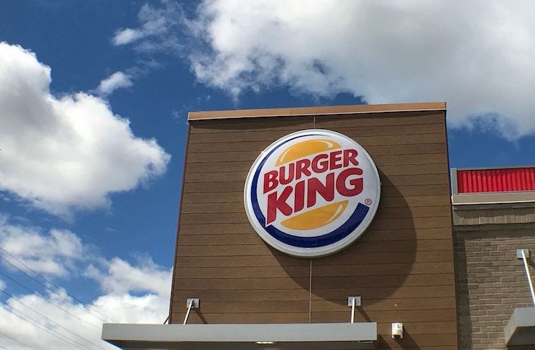 Burger King, Restaurant, Clouds, Blue Sky, Greencastle