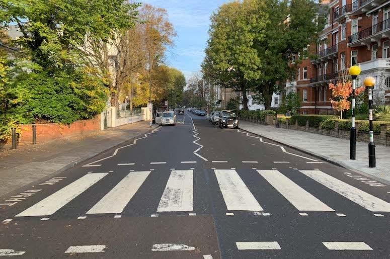 Abbey Road, Zig Zag Crosswalk, Zebra Crossing, The Beatles, 2018