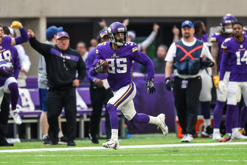 Dec 16, 2018; Minneapolis, MN, USA; Minnesota Vikings cornerback Marcus Sherels (35) returns a punt during the third quarter against the Miami Dolphins at U.S. Bank Stadium.