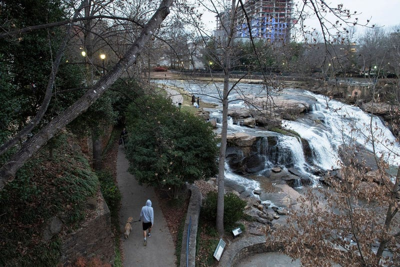 Part of the Swamp Rabbit Trail runs through Falls Park on the Reedy in Greenville