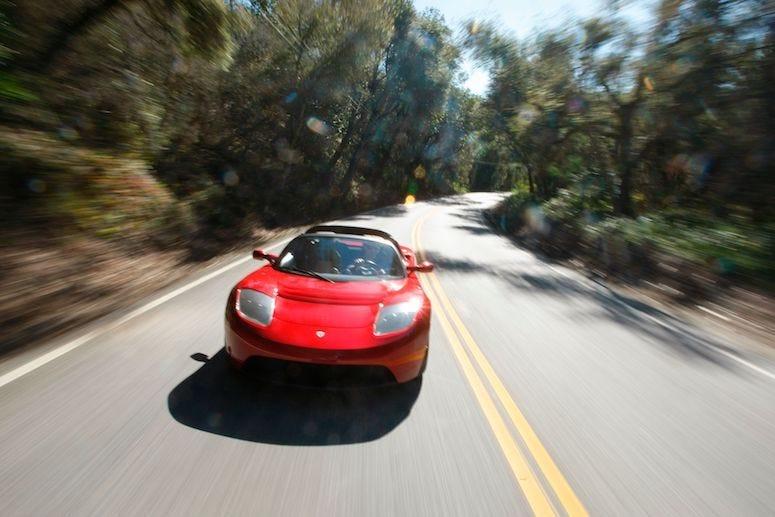 Tesla Roadster, California, Highway, Driving, Speeding, Blurry, 2008