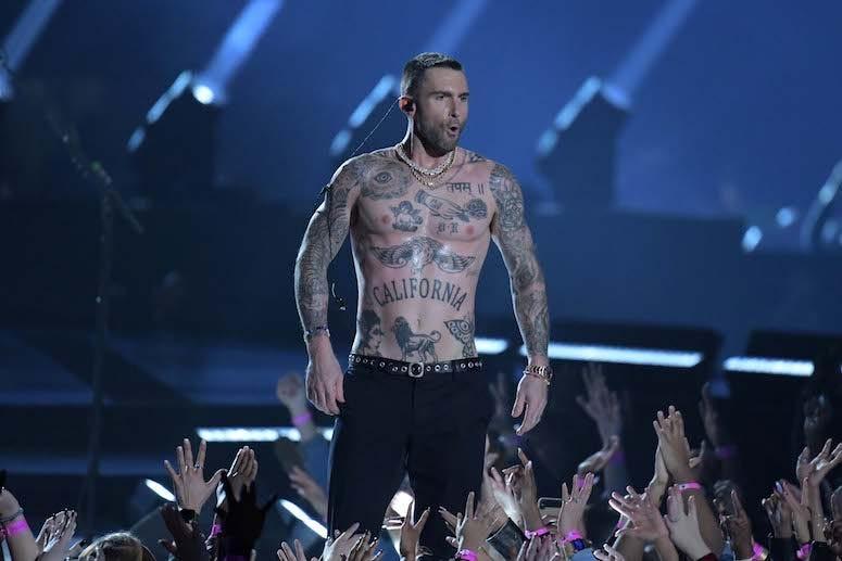 Adam Levine, Shirtless, Super Bowl LII, Halftime Show, Nipples