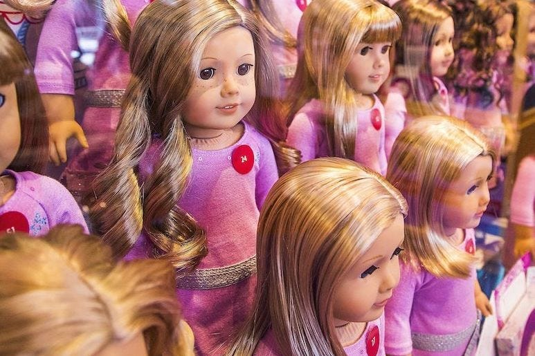 American Girl Dolls, Mattel, Store, Shelf