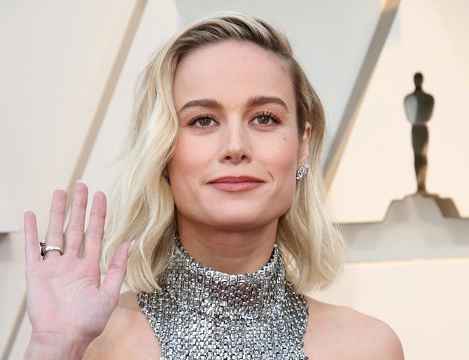 February 24, 2019; Los Angeles, CA, USA; Brie Larson arrives at the 91st Academy Awards at the Dolby Theatre