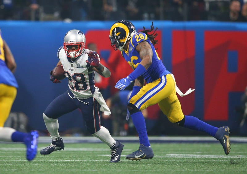 Mark Barron vs James White in Super Bowl LIII