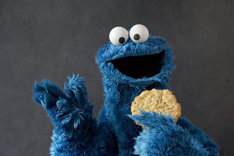 Cookie Monster, Cookie, Portrait, Studio, Pose, Sesame Street