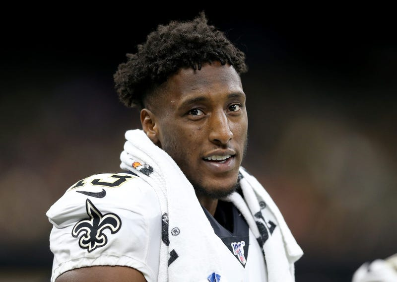 Aug 9, 2019; New Orleans, LA, USA; New Orleans Saints wide receiver Michael Thomas (13) on the bench in the second half against the Minnesota Vikings at the Mercedes-Benz Superdome.