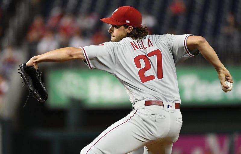 Philadelphia Phillies starting pitcher Aaron Nola (27)