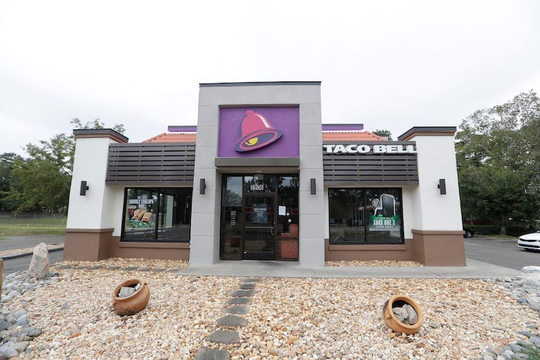 Taco Bell, Restaurant, Tallahassee, Exterior, 2019