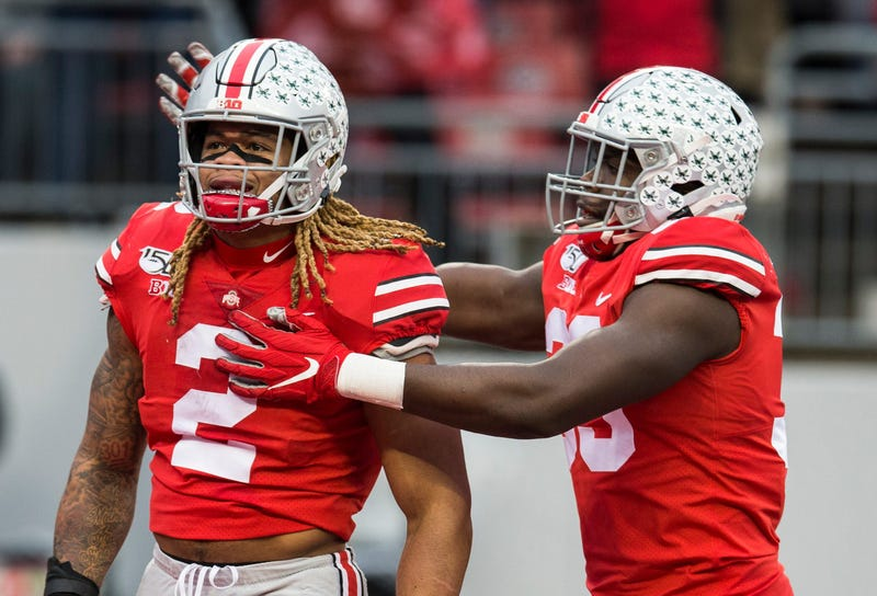 Ohio State Buckeyes defensive end Chase Young (2) and Ohio State Buckeyes defensive end Zach Harrison (33)
