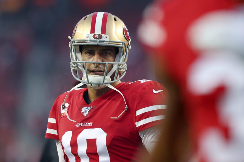 Jimmy Garoppolo stares down the Los Angeles Rams