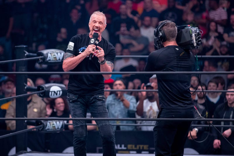 Diamond Dallas Page hypes up the crowd