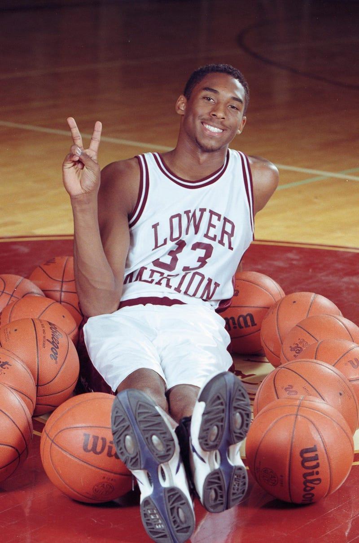 Lower Merion High School senior Kobe Bryant is photographed at Lower Merion High School in Ardmore, PA.