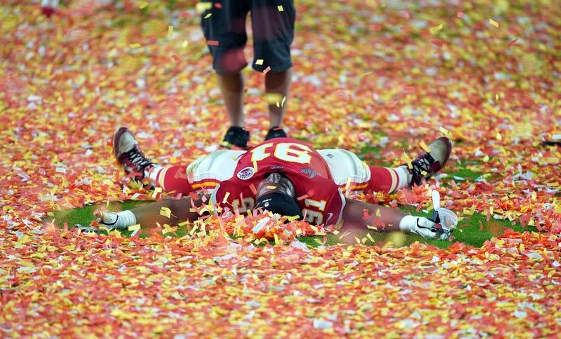 ; Kansas City Chiefs nose tackle Derrick Nnadi (91) celebrates