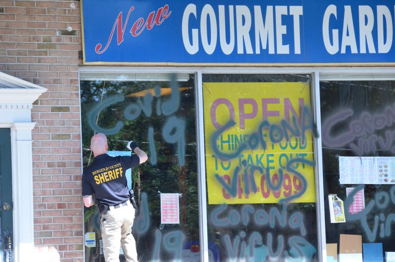 Authorities labeled the vandalism of a Chinese restaurant in Wyckoff as a bias crime. June 17 , 2020.