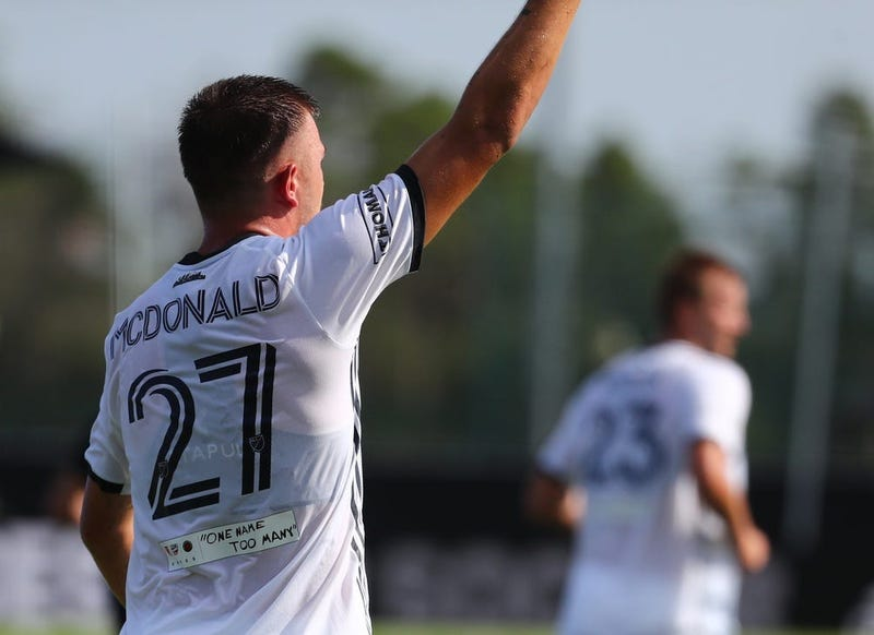 A detail view of the Philadelphia Union defender Kai Wagner (27) Jersey