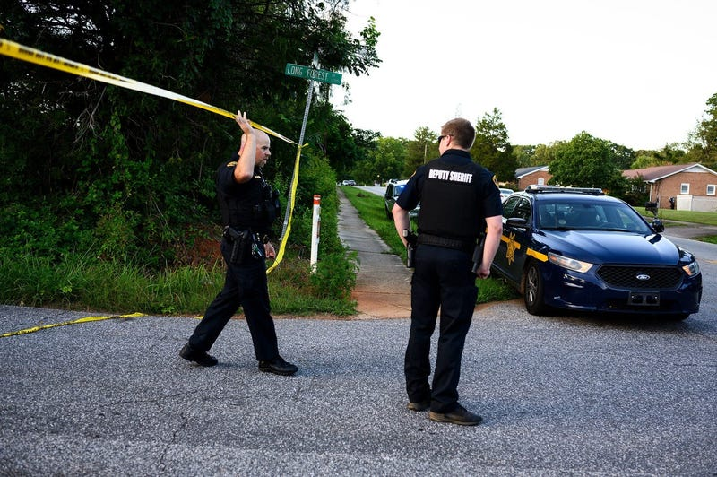 Greenville County Sheriff's office at the scene of an deputy-involved shooting at Long Forest Drive and Old Buncombe Road Saturday, July 11, 2020.