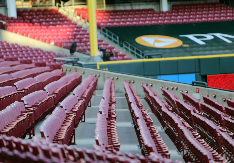 Empty stands at MLB game