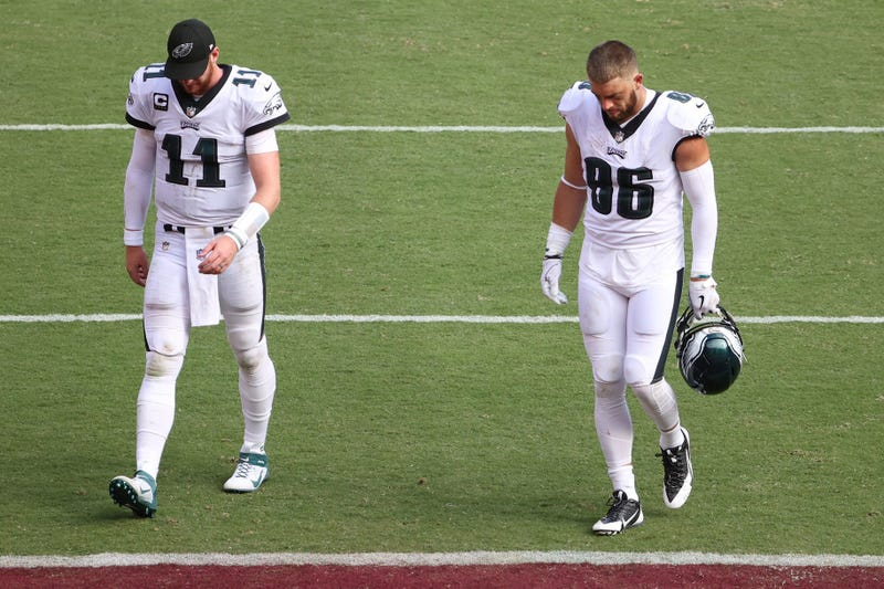 Philadelphia Eagles quarterback Carson Wentz and Eagles tight end Zach Ertz