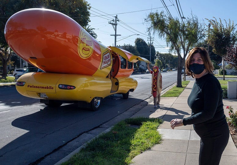 Who wants to travel the U.S. in a giant hot dog?