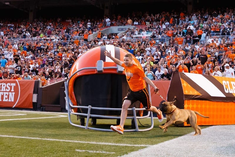 Cleveland Browns mascot Swagger