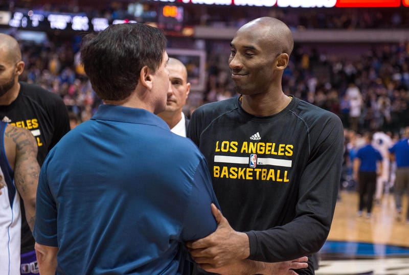 Kobe Bryant, Dallas Mavericks owner Mark Cuban