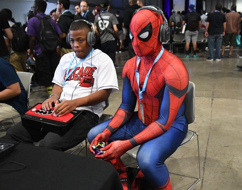 Spider-Man Playing Video Games
