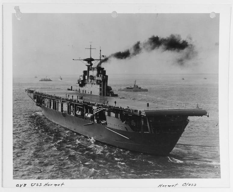 NH 81313 USS Hornet (CV-8)