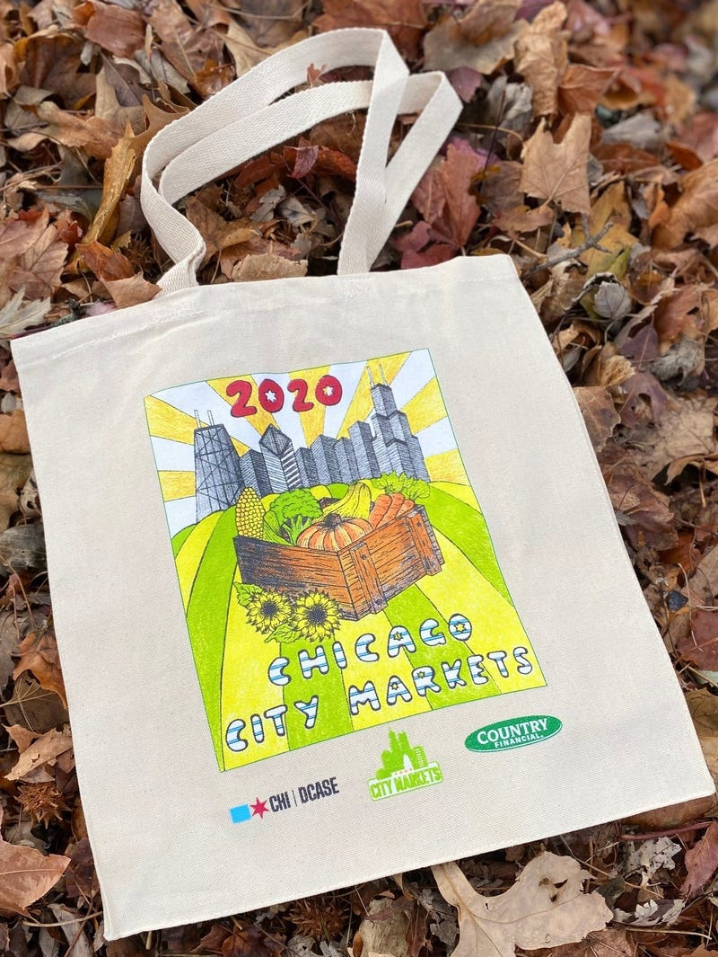 Anna Poprawski, a Senior at Lane Tech College Prep High School, won the 2020 Chicago City Markets Reusable Bag Design Contest. Her artwork is featured on reusable bags that are available for free at Chicago Country Financial offices.