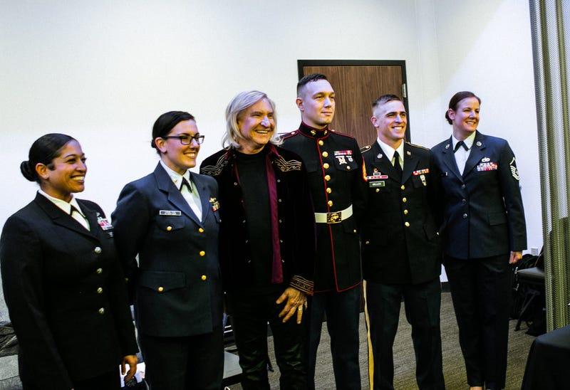 Joe Walsh and service members