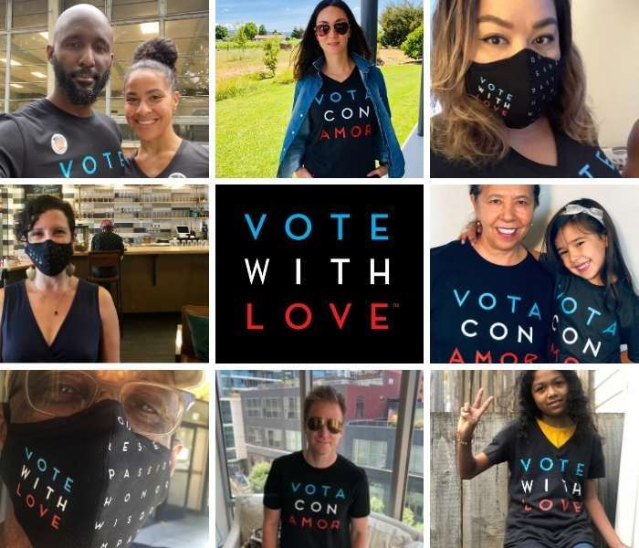 The Vote With Love campaign encourages voters to be empathetic