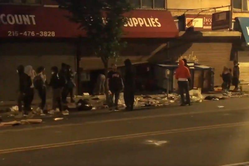 Looters on 52nd Street in West Philadelphia