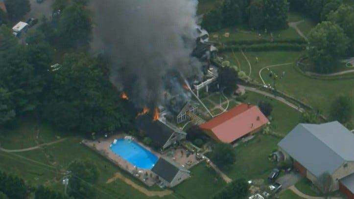 house fire in West Brandywine Township, Chester County