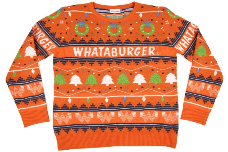 Whataburger Christmas Sweater 2020