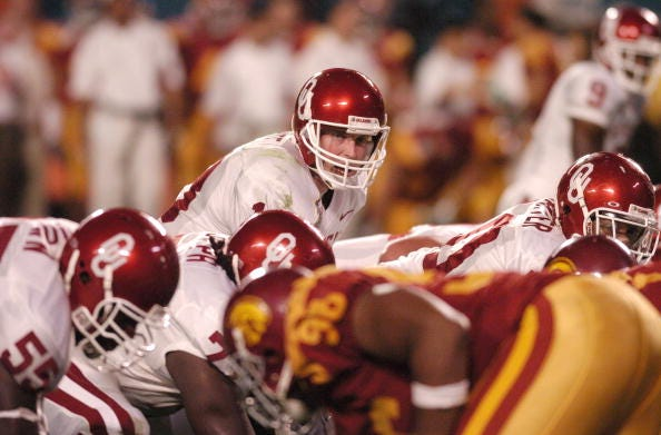 Jason White under center for Oklahoma in 2003.