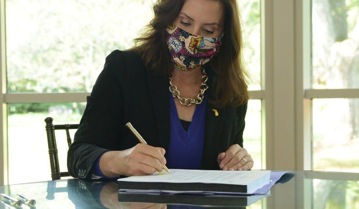 whitmer signs the budget