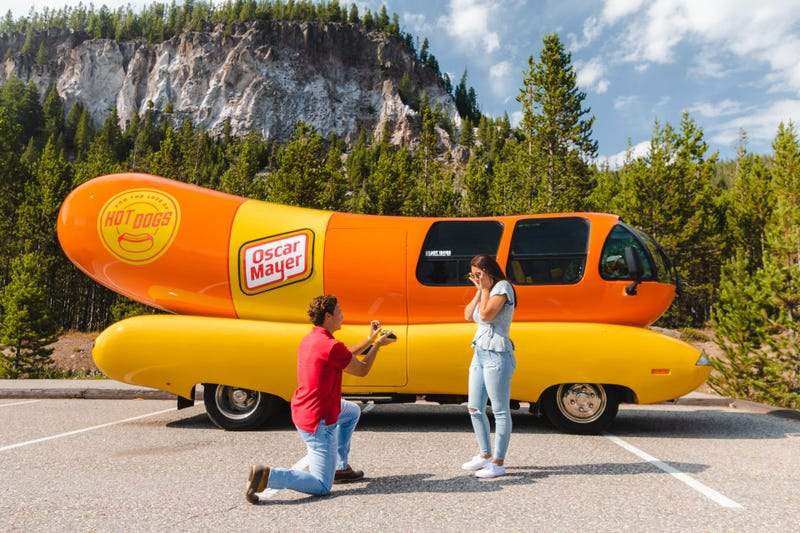 Oscar Mayer is making its iconic Wienermobile available to those who want to make their proposal even more memorable.