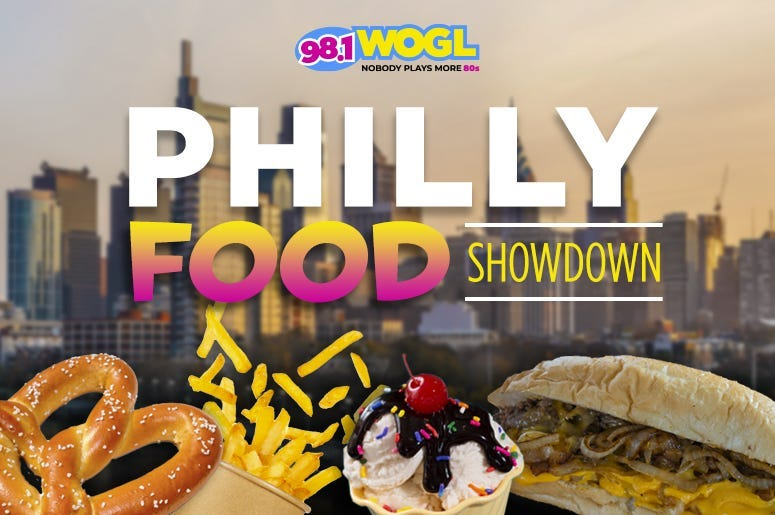 Philly Food Showdown on 98.1 WOGL Your favorite Philadelphia foods are going HEAD-to-HEAD, and you decide the winner!