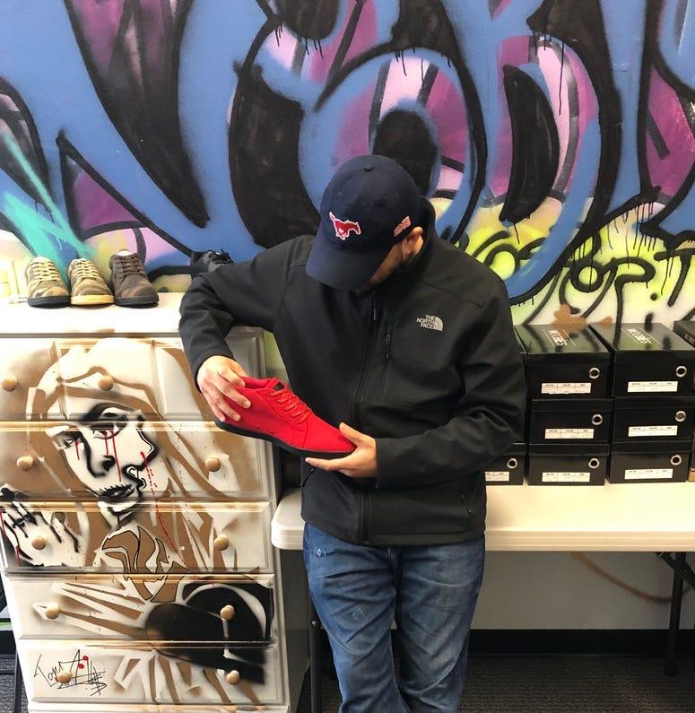 Woobies shoes founder Anthony Aguiniga