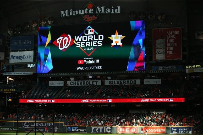 2019 World Series between the Houston Astros and the Washington Nationals.