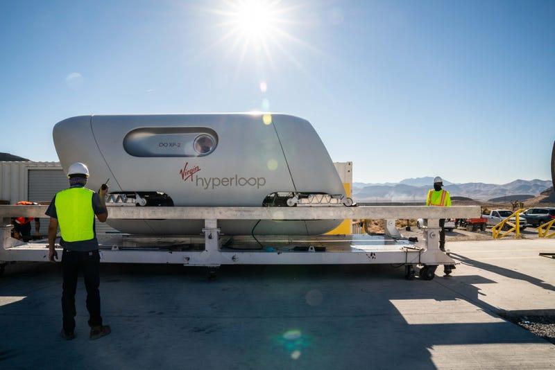 Virgin Hyperloop pod tested in Nevada desert on 11-8-20