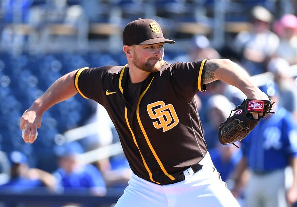 Kirby Yates pitches for the San Diego Padres.